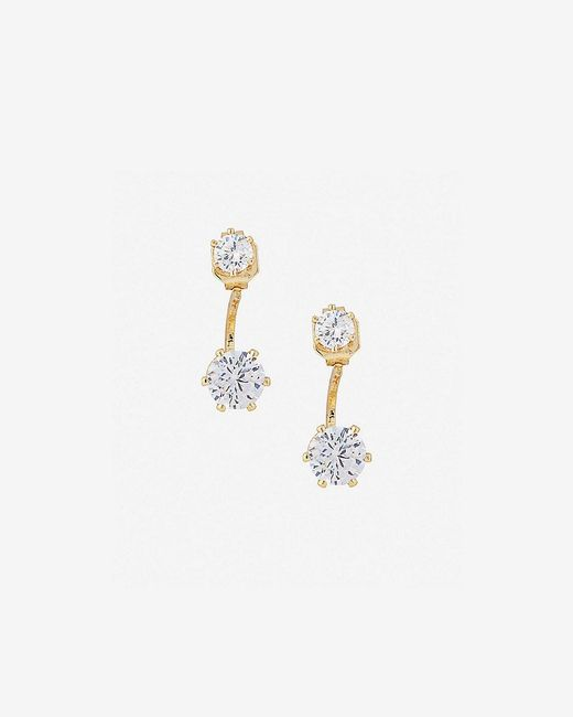 Express | Metallic Cubic Zirconia Ear Jackets | Lyst
