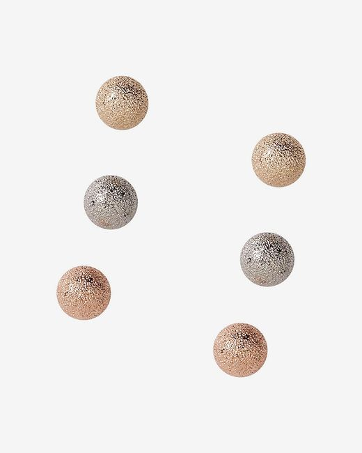 Express | Multicolor Diamond Dust Ball Earring Trio | Lyst