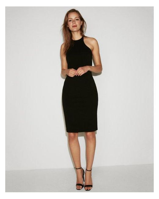 4aa0df8d Express Strappy Halter Dress in Black - Lyst