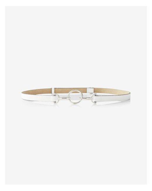 Express - White Circle Hook Belt - Lyst