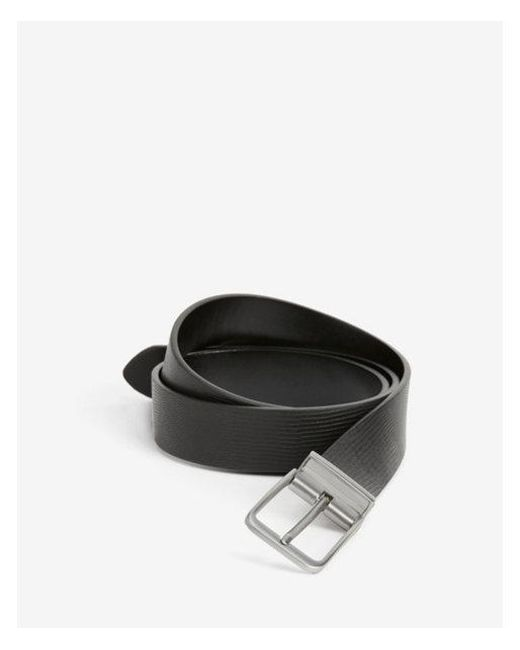 Express - Black Reversible Matte Square Prong Buckle Belt for Men - Lyst