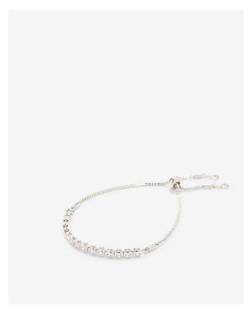 Express - Metallic Cubic Zirconia Pull Chain Bracelet - Lyst
