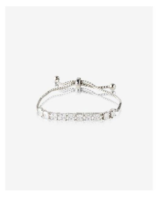 Express | Metallic Embellished Pull-cord Bracelet | Lyst