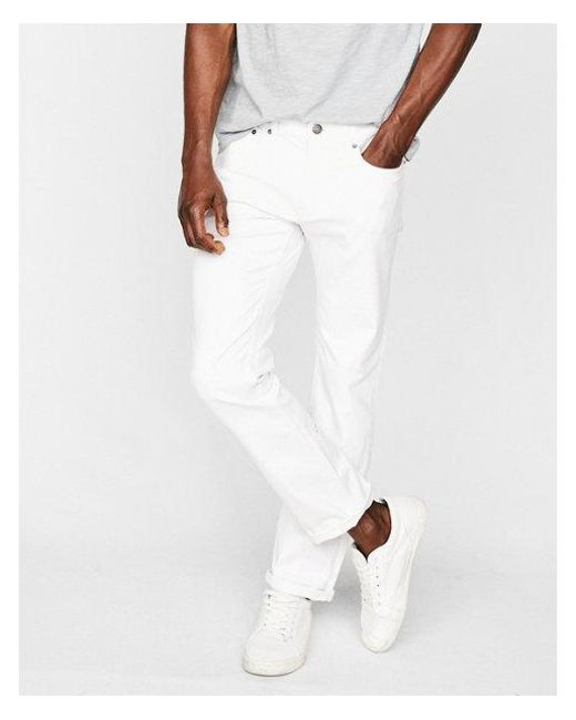 Express - White Slim for Men - Lyst
