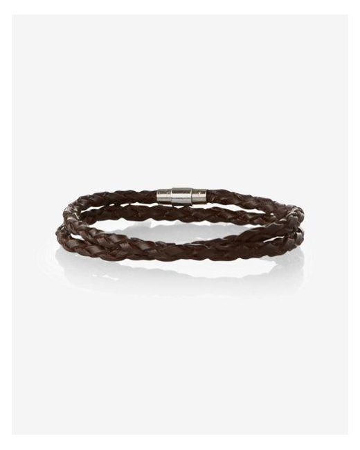 Express | Brown Aided Leather Wrap Bracelet for Men | Lyst