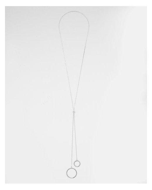 Express - Metallic Circle Y-neck Necklace - Lyst