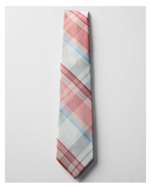 Express - Orange Narrow Plaid Silk Tie for Men - Lyst