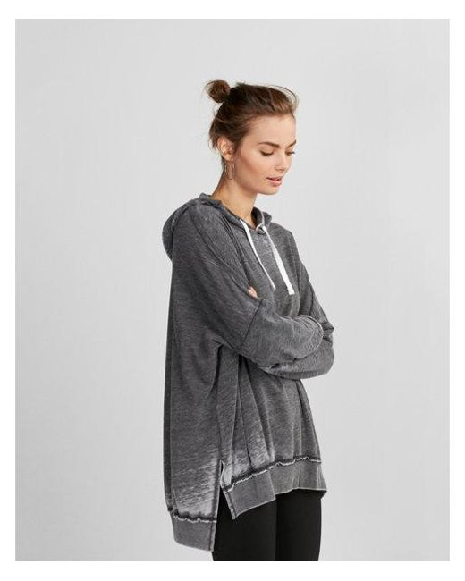 Express Urnout Oversized Pullover Hoodie in Black | Lyst