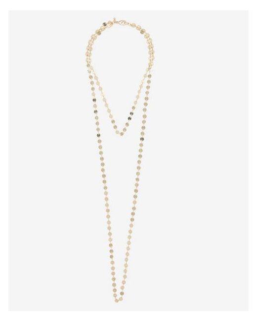Express - Metallic Dotted Disc Hi-lo Necklace - Lyst