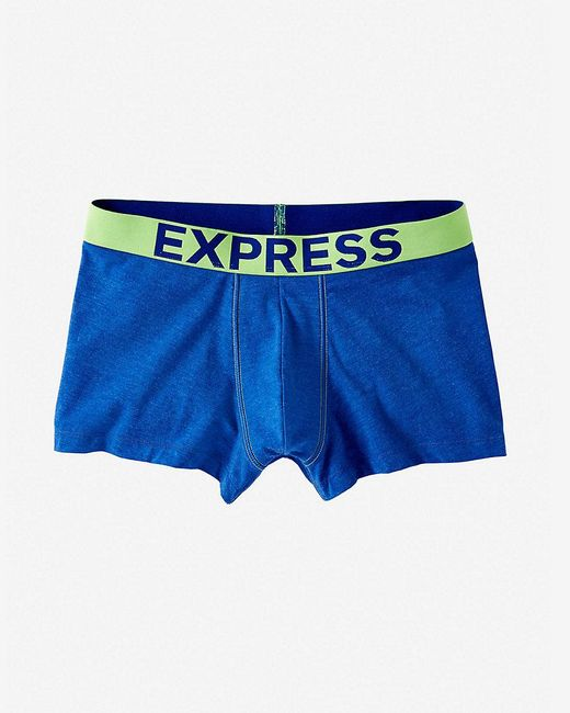 Express   Blue Color Block Heathered Knit Sport Trunk for Men   Lyst