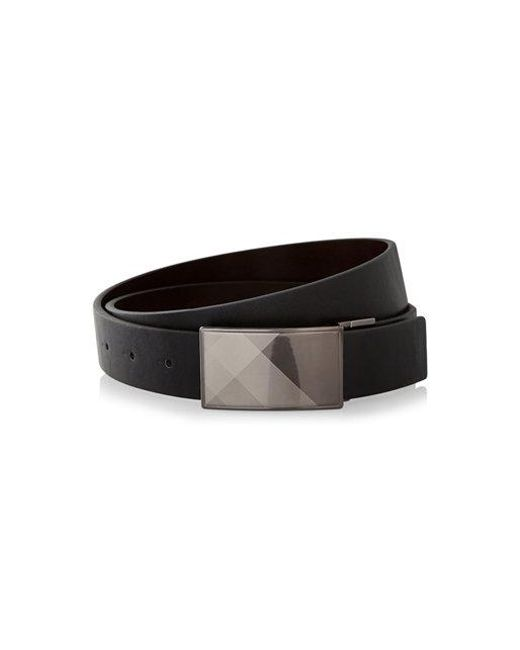 Express - Black 2-in-1 Reversible Plaid Buckle Belt for Men - Lyst