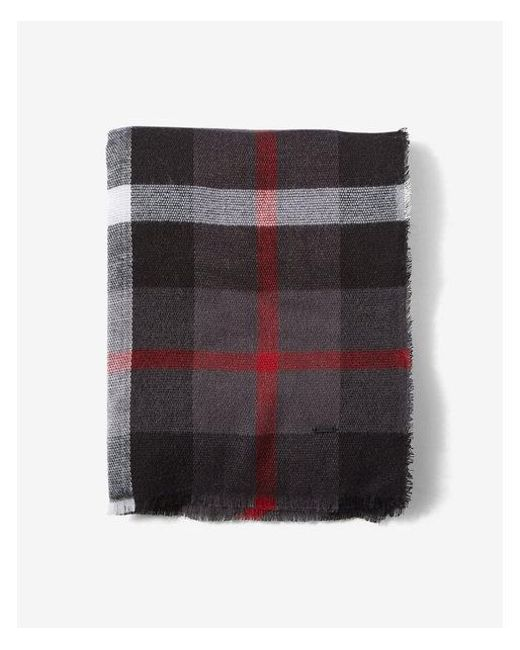 Express - Red Plaid Scarf for Men - Lyst
