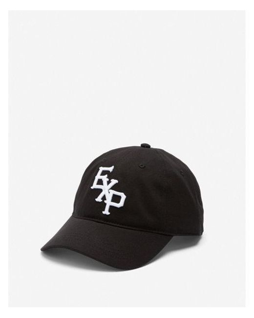 Lyst - Express Exp Embroidered Logo Baseball Hat in Black for Men 0cbb75ee0c3e