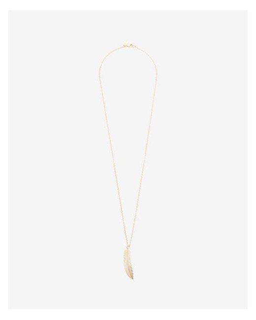 Express | Metallic Pave Leaf Pendant Necklace | Lyst