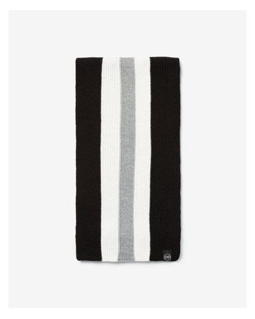 28167bdb70a76 Lyst - Express Vertical Striped Scarf in Black for Men