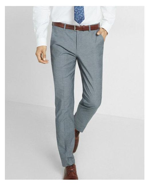 5dd1b755a392 Express - Blue Slim Photographer Diamond Weave Dress Pant for Men - Lyst