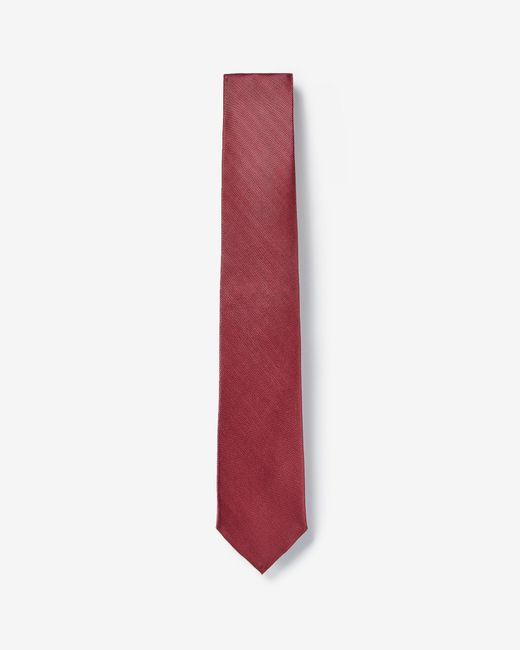 Express - Narrow Solid Tie Red for Men - Lyst