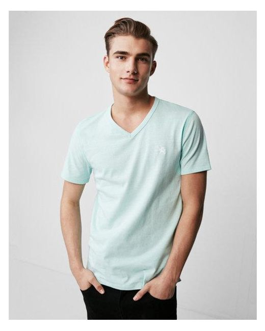 Express - Green Small Lion Eco-friendly Stretch V-neck Tee for Men - Lyst