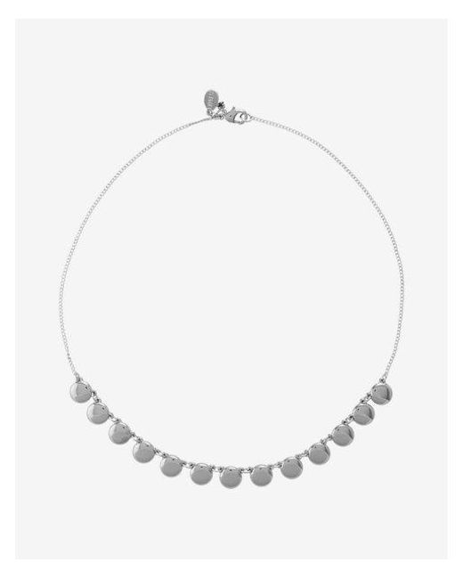 Express - Metallic Hort Disc Necklace - Lyst