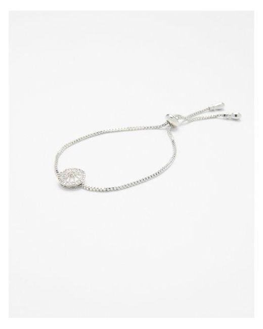 Express | Metallic Cubic Zirconia Pull-cord Bracelet | Lyst