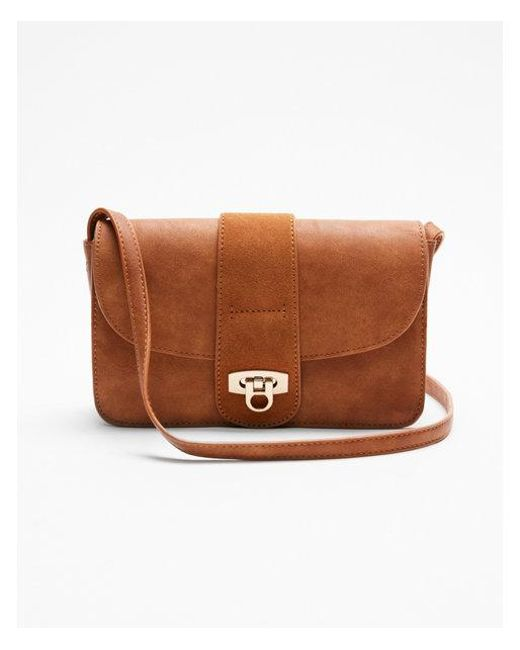 Express Moda Luxe Lexi Crossbody Bag in Brown - Lyst 284f9cd4b5