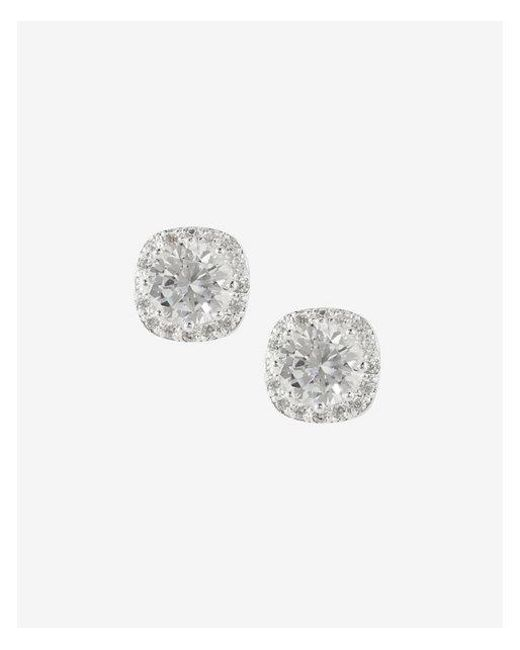 Express - Metallic Rhinestone And Pave Square Stud Earrings - Lyst