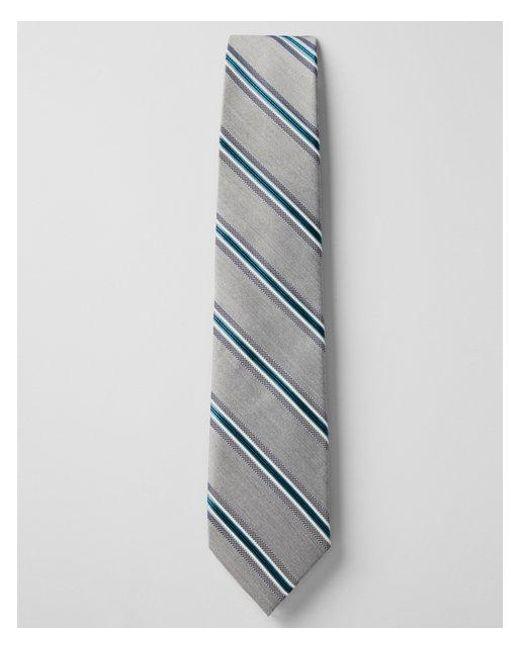 Express - Blue Multi Stripe Narrow Silk Blend Tie for Men - Lyst