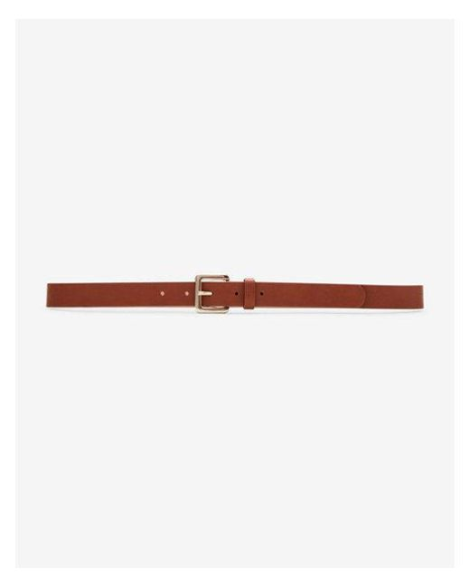 Express | Brown Small Square Buckle Belt | Lyst