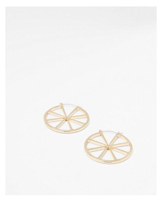Express - Metallic Citrus Hoop Earrings - Lyst