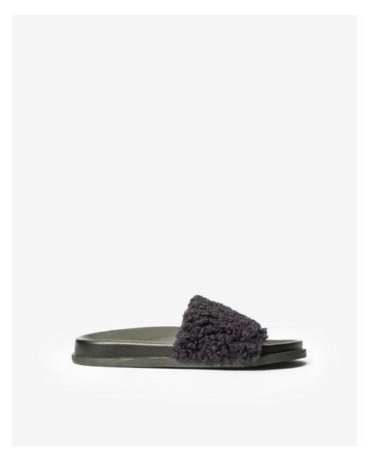 d5ba00359a67 Lyst - Express Jane And The Shoe Julie Shearling Slides in Blue