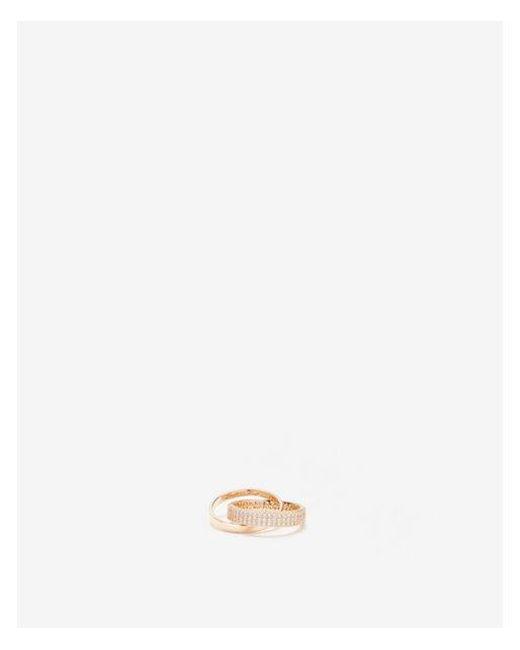 Express - Metallic Cubic Zirconia Interlocking Ring - Lyst