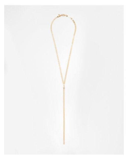 Express - Metallic Chevron Y-neck Necklace - Lyst