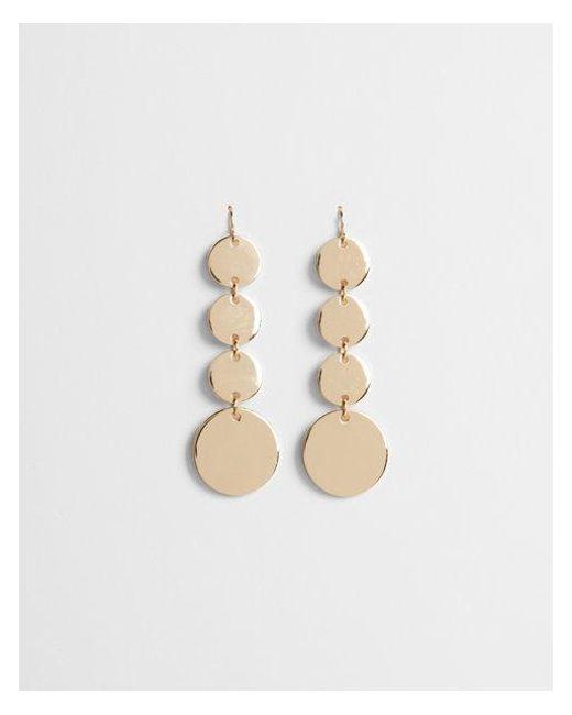 Express Metallic Linear Disc Drop Earrings Lyst