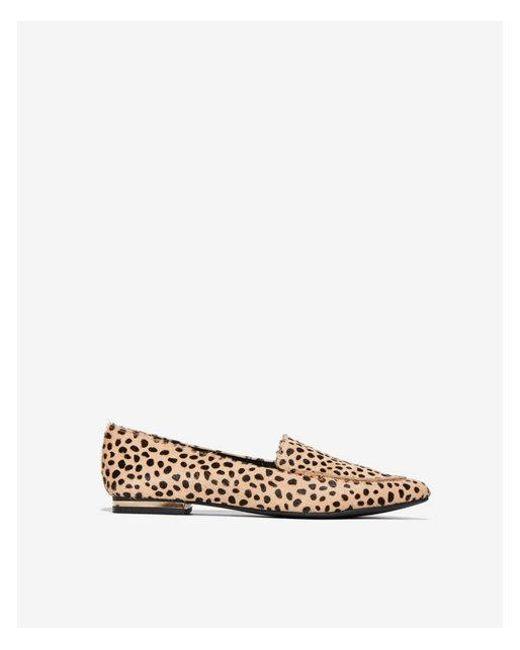Express - Brown Cheetah Lennox Loafer Flat - Lyst
