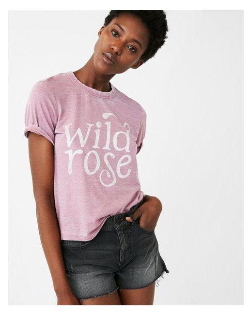 Express - Purple One Eleven Wild Rose Crew Neck Tee - Lyst