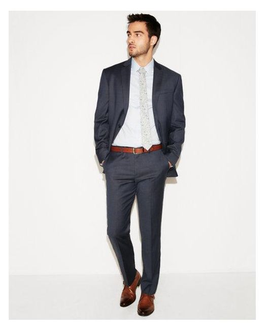 Express - Blue Classic Navy Striped Wool-blend Suit Pant for Men - Lyst