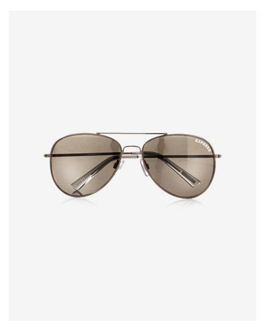 2d2fdf35b25 Lyst - Express Mirrored Aviator Sunglasses in Metallic for Men
