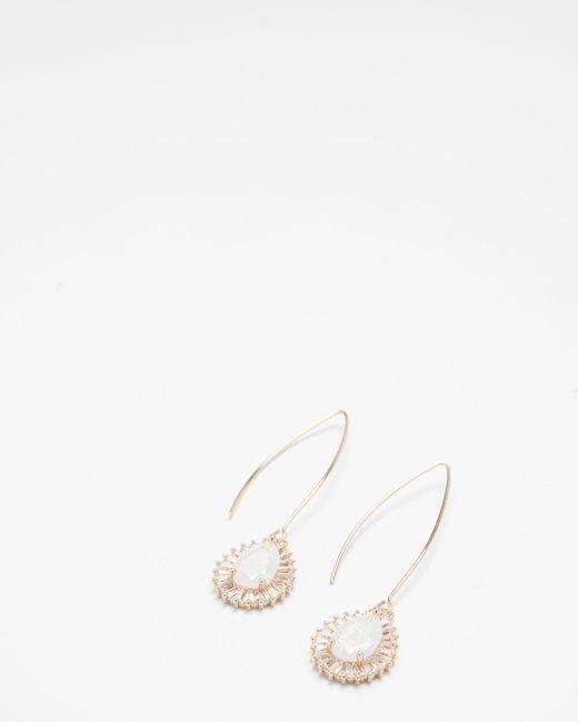 Express - Metallic Crackle Cubic Zirconia Teardrop Earrings - Lyst