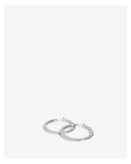 Express - Metallic Flat Metal Hoop Earrings - Lyst