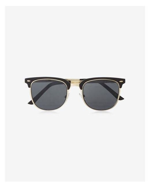 Express - Black Browline Sunglasses for Men - Lyst