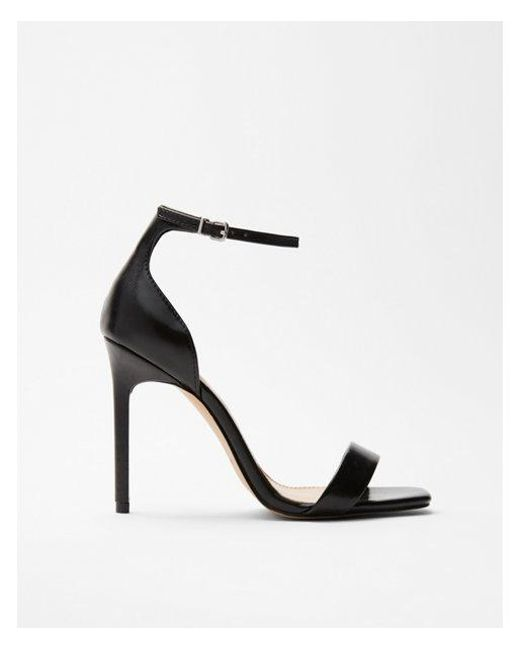 3ac565b8034 Lyst - Express Square Toe Heeled Sandals in Black