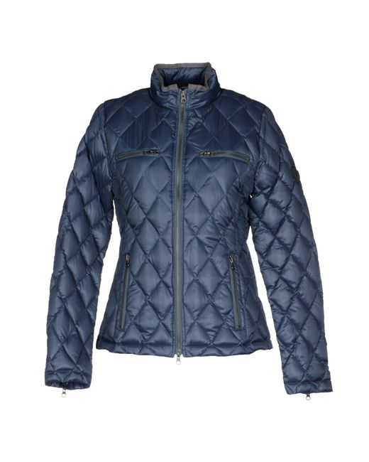 true religion down jacket in blue lyst. Black Bedroom Furniture Sets. Home Design Ideas