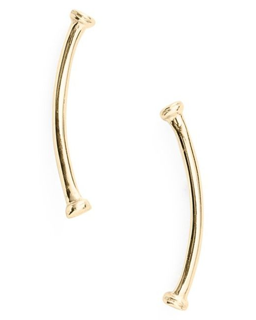 Bony Levy | Yellow Skinny Curve Bar Stud Earrings (nordstrom Exclusive) | Lyst