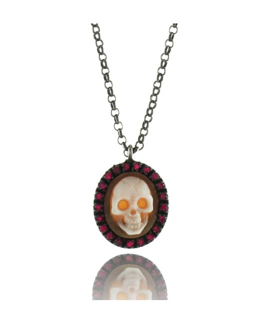 Amedeo | Pink Amedeo Small Skull Cameo Pendant | Lyst