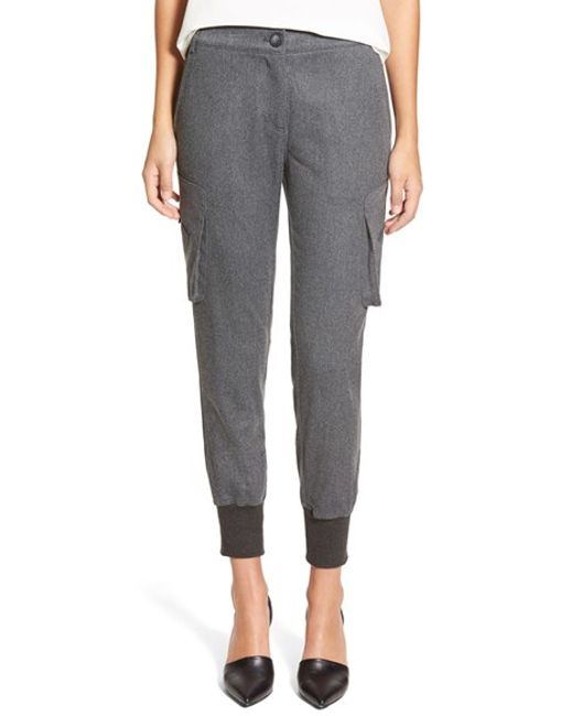 James Jeans | Gray Slouchy Fit Flannel Utility Jogger Pants | Lyst