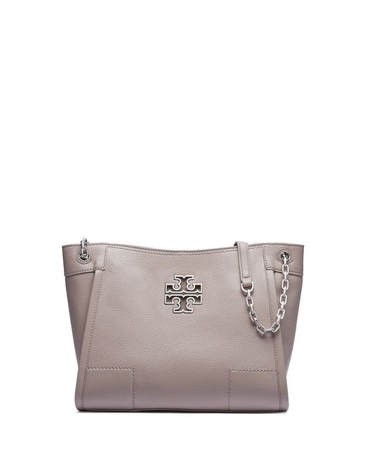 Tory Burch | Gray Britten Small Slouchy Tote | Lyst