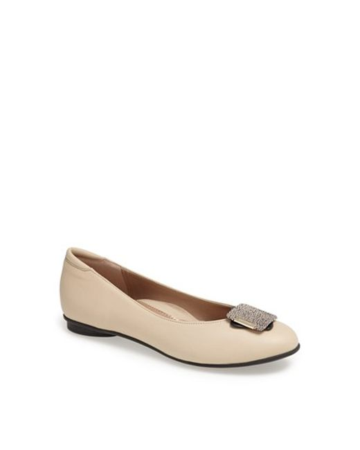 Beautifeel | Natural 'shelly' Leather Flat | Lyst