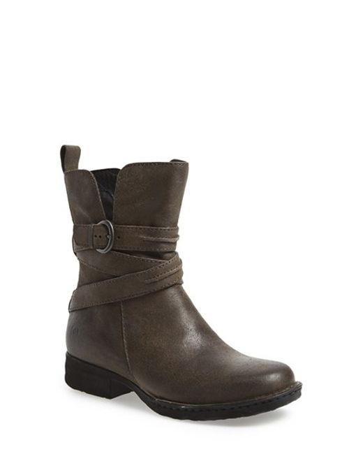 Born | Brown 'leandra' Modern Short Bootie | Lyst