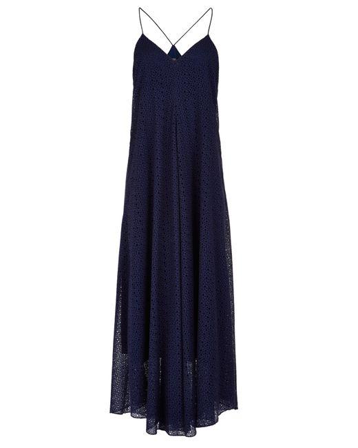 Tibi   Blue Diffusion Eyelet Strappy Dress   Lyst
