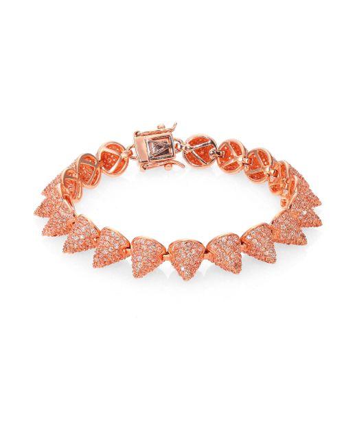Eddie Borgo | Red Pave Crystal Small Cone Bracelet | Lyst
